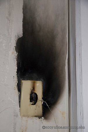 Almost lost the entire house. The water that started the electrical fire, also put it out.