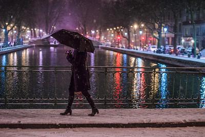 umbrella in the snow color