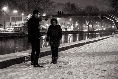 cigarette in the snow
