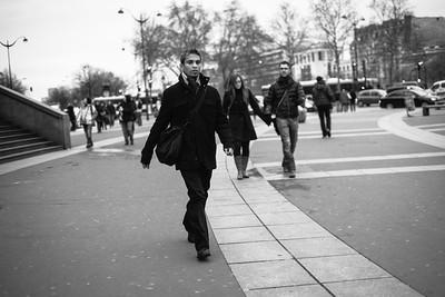 man walking bastille