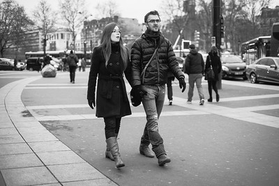 couple walking bastille