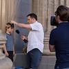 Jimmy Kimmel works on comedy bit
