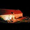 Maison prise de nuit - Bourgogne - France