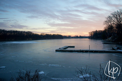 Winter Sunrise Lake George - Hobart, Indiana
