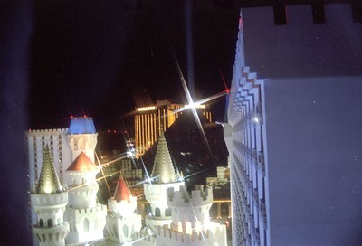 View from Excalibur at night