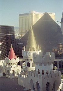 View of Luxor and Mandalay Bay from Excalibur