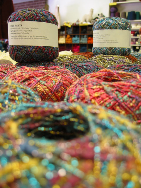 Over the rainbow in Kansas.<br /> This yarn was really very soft.