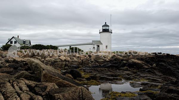Goat Island Lighthouse - Cape Porpoise Harbor, Maine