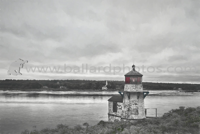 Squirrel Point Light Station,  Arrowsic on the Kennebec River, Maine