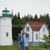 Little River Lighthouse, Cutler Maine - Terry and Cynthia Posing with the lighthouse