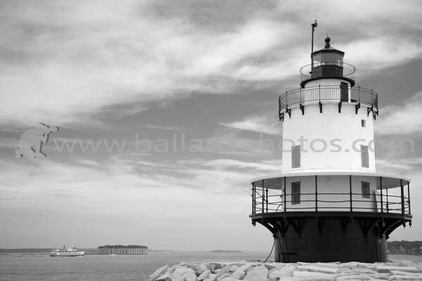 Spring Point Ledge Light is a sparkplug lighthouse in South Portland, Maine