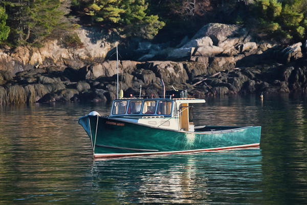 5 Islands Harbor, Georgetown Maine - Lobster Boat Kristin Leigh