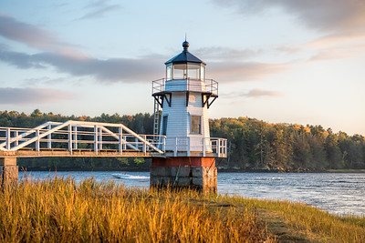 Doubling Point Lighthouse on the Kennebec River, in Arrowsic, Maine.
