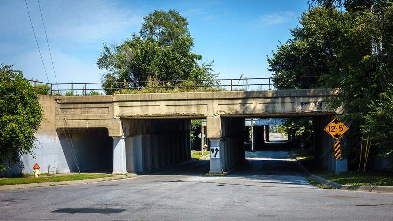 Railroad Bridges over 7th Street.