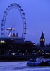 The Thames at dusk,The Eye and Big Ben