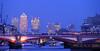 Thames bridges and Canary wharf