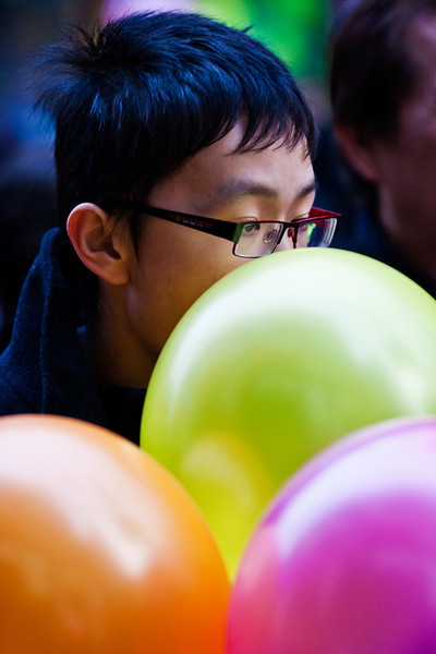 Lost in a world of balloons.