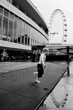 Splashing in Southbank (London)