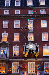 Fortnum and Mason, London at night