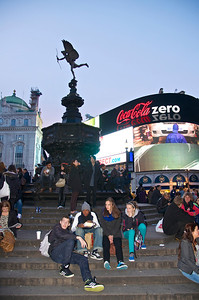 Picadilly Circus, London at night