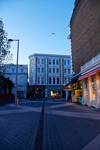 Exhibition Road, South Kensington, London, early morning