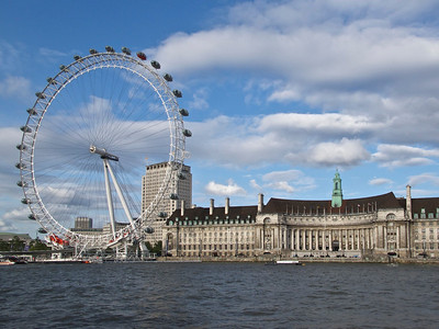 London Eye and old GLC building