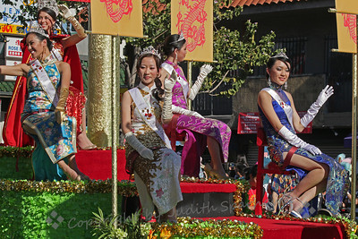 So Much Beauty ~ This was one of the floats in the New Year's parade.  These lovely ladies added a touch of beauty to the day.  They were dressed and presented beautifully.