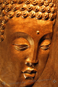Face of Gold ~ This beautiful bas-relief sculpture was in a restaurant in Chinatown, Los Angeles.  I sneaked two quick shots of it as I walked out the door, after a delicious and inexpensive lunch.