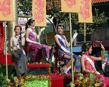 Festival Royalty ~ Another view of the parade float presenting these beautiful young ladies reigning over the festival.