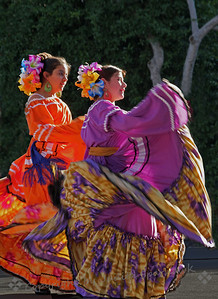 Dancing Duo ~ Two of the dancers performing Mexican dances in the pavillion at Olvera Street in Los Angeles.