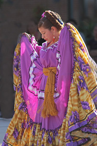 Dancing in the Square ~ This was one of the dancers performing Mexican dances in the pavillion at Olvera Street in Los Angeles.