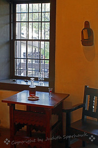 Sit Awhile ~ This image is from the interior of the Avila Adobe House, the oldest existing house in Los Angeles. It was built in 1818, and was renovated in the 1920's. It now serves as a museum, and was restored to the way it looked in the 1840's.