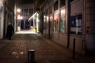 side street night lyon