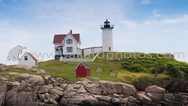 "Cape Neddick ""Nubble"" Lighthouse, York Beach Maine."