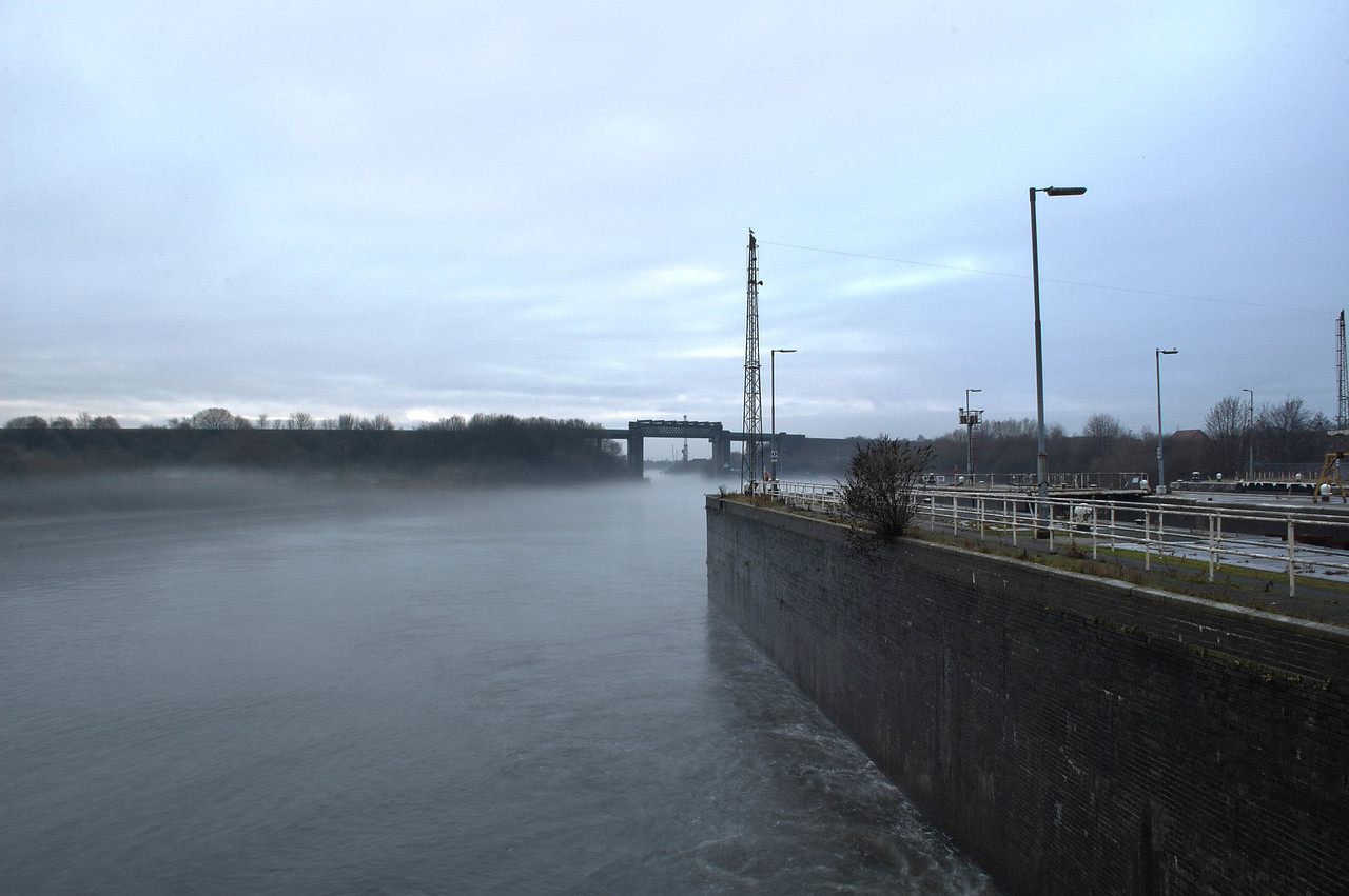 View from the Lock gates of the Railway line