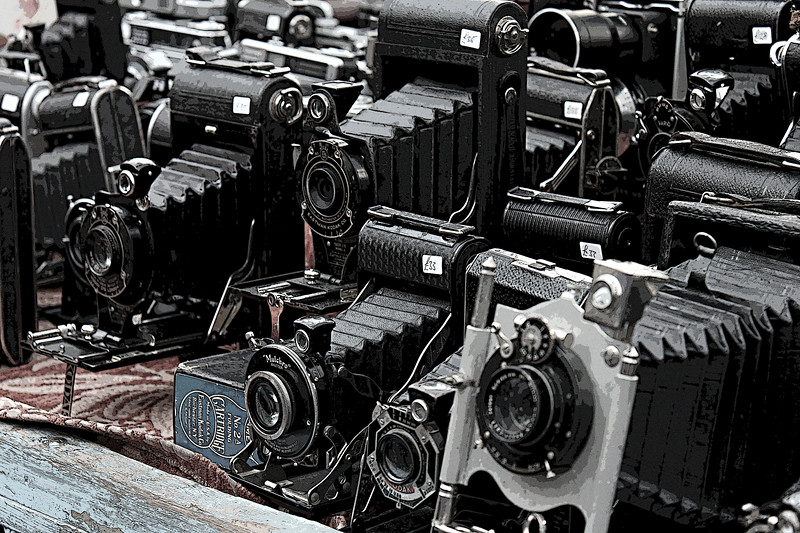 Old Cameras (Posterized)<br /> London<br /> By: KImberly Marshall