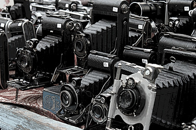 Old Cameras (Posterized) London By: KImberly Marshall