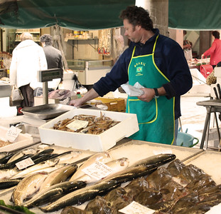 Venice Fish Market Sepia By: Kimberly Marshall