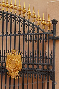 Black & Gold ~ I liked the details of this ornate gate.