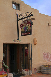 Vintage Wines ~ An inviting wine shop in Mesilla, New Mexico.
