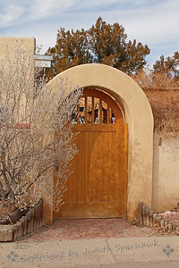 The Garden Gate ~ A wonderful gate leading into the garden of a home in Messila, New Mexico.