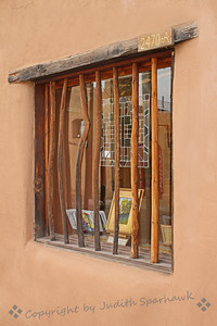 The Rustic Window ~ This shop or gallery window caught my eye as I walked the streets of Mesilla.