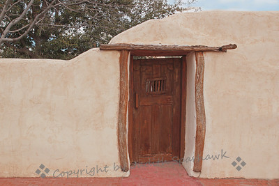 The Door in the Wall ~ I really liked this rustic door in the adobe wall.