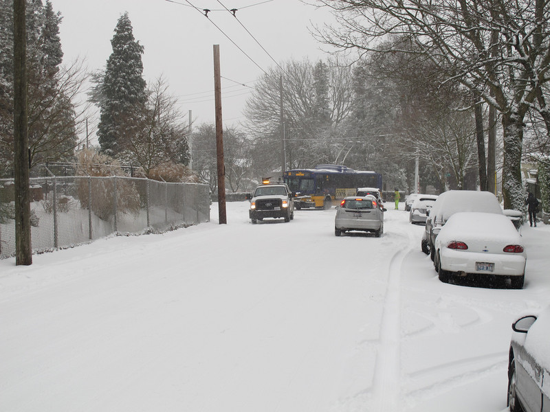 The bus that had spun out. It was moved out the way right after this photo was taken.