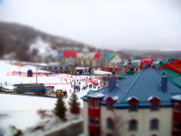 Mont Tremblant from the window of the Fairmont Hotel