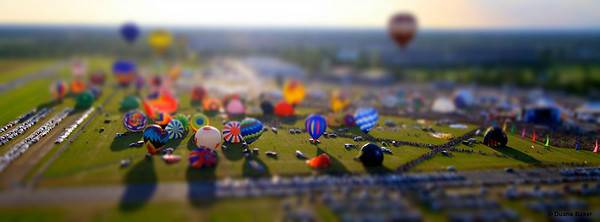 Image shot from a balloon of other, well you guessed it, BALLOONS!