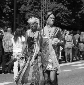 Happy couple attending Gay Pride Parade in Copenhagen. Photo: Martin Bager.