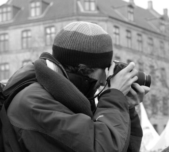 Photographer at Cop 15 in Copenhagen. Photo: Martin Bager.