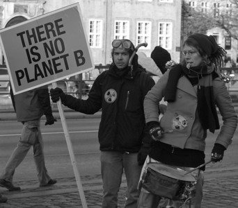 Climate protesters at Cop 15 in Copenhagen. Photo: Martin Bager.