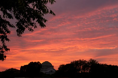 Sunset above Natural History dome